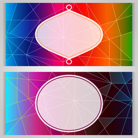 copy space: Colorful card with copy space vector template.