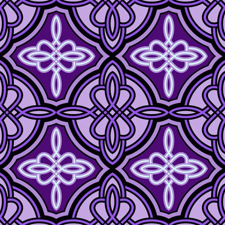 keltische muster: Nahtlose abstrakte lila keltische Muster. Illustration