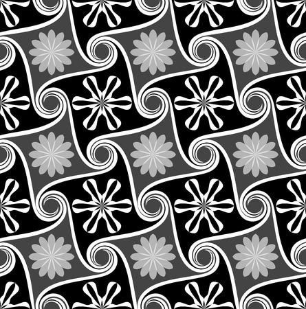 monochrome: Seamless abstract flower monochrome wallpaper.