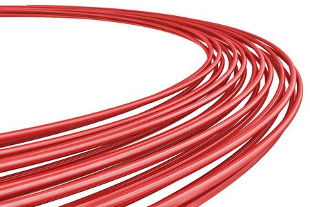 lineas horizontales: Resumen fondo rojo anillos 3D con copia espacio.