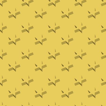 3d star: Seamless 3D star flat design vector pattern.