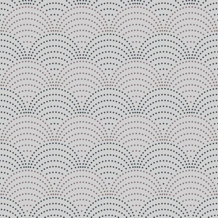 grey pattern: Grey wave shaped circles seamless vector pattern.