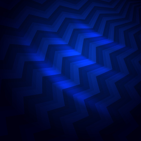 Abstract dark blue crooked stripes vector background.