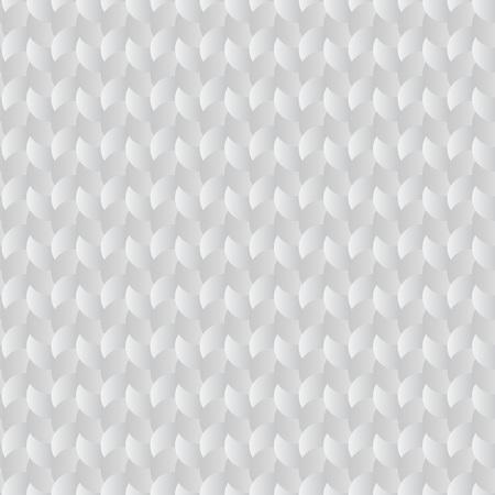 woven: Seamless circles woven white vector pattern.