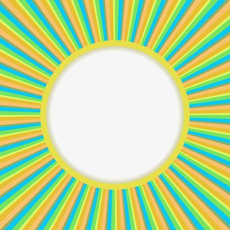 El sol abstracto estalló el fondo del vector con el espacio de la copia. Ilustración de vector