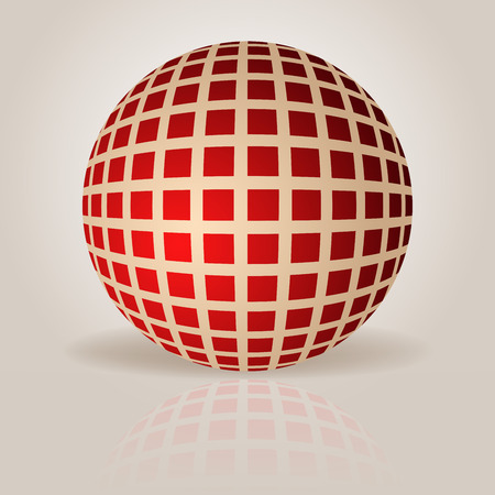 grid pattern: Abstract sphere with grid pattern vector illustration.