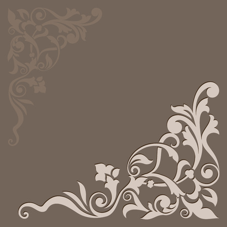 beige: Abstract floral beige vector background.