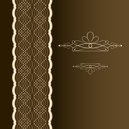 vertical dividers: Vertical book cover ornament vector template. Illustration