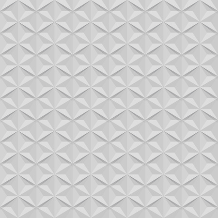 star shaped: Seamless white wall star shaped vector pattern.