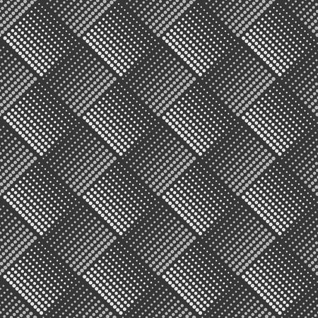 diamond shaped: Diamond shaped halftone seamless vector pattern.