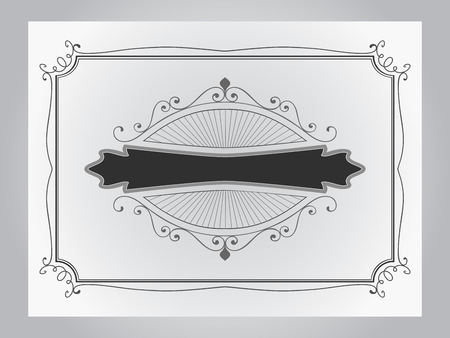 simple border: Simple black and grey vintage border vector template. Illustration