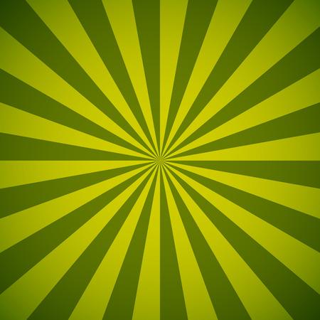 Green and yellow sun burst vector background. Illustration