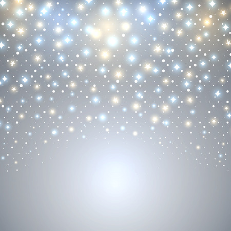 starfall: Abstract Christmas starfall vector background with copy space.