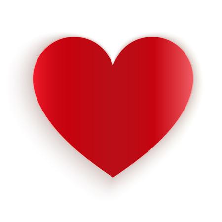 paper heart: Red paper cut heart vector template