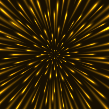 Through the stars at warp speed vector background. Flying through hyperspace backdrop.