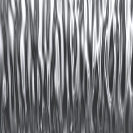 물결 모양의 크롬 표면 배경입니다. 3D 렌더링입니다.