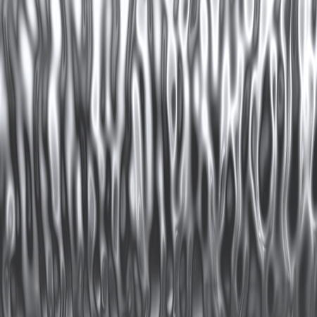 Wavy chrome surface background. 3D rendering.