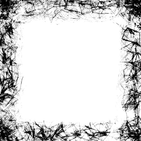 Grunge frame black and white texture. Design element to reproduce an aged effect. Stock Photo - 85459583