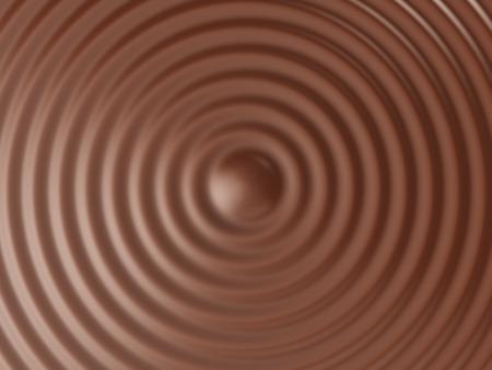 Brown surface circular waves background. 3D rendering.
