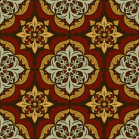 Vintage ornate mandala floral pattern.
