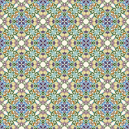 Seamless vintage ornate floral vector pattern. Retro floral wallpaper. 向量圖像
