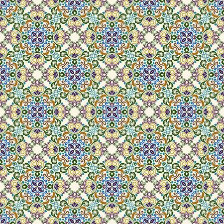 Seamless vintage ornate floral vector pattern. Retro floral wallpaper. Illusztráció