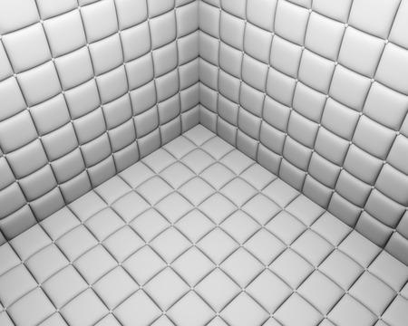 Zachte muren witte ziekenhuiskamer. 3D-weergave