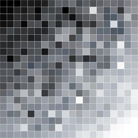 Black to white diagonal square mosaic background. Vector illustration.