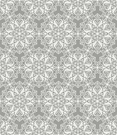 Beige en witte naadloze bloemen behang patroon vector sjabloon. Naadloos inpakpapier, textiel of stoffering. Vector illustratie.