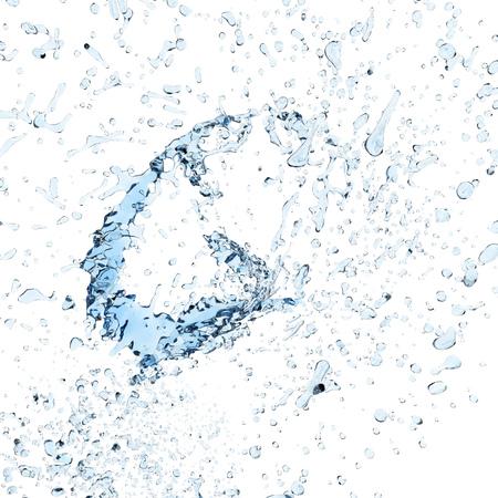 Clean water spalsh light background. Advertising design element. 3D rendering.
