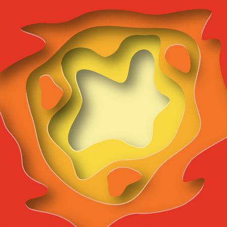 Color paper cut design. Creative layered background. Vector Illustration. Иллюстрация
