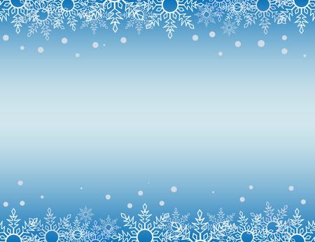 Streszczenie tło Boże Narodzenie z białymi granicami płatka śniegu i miejsca kopiowania w centrum. Ilustracja wektorowa.