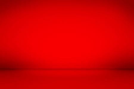 Red studio backdrop. Illuminated room background. Raster illustration. Stockfoto