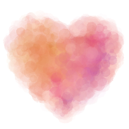 Heart shaped watercolor spot on white background. Vector illustration. Иллюстрация