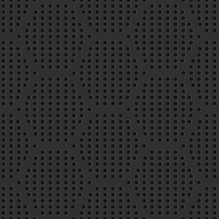 Seamless iron perforated grate pattern. Industrial seamless background. Vector Illustration. Illusztráció