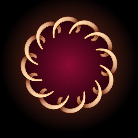 Cercle d'or rond fond de cadre. Illustration vectorielle.