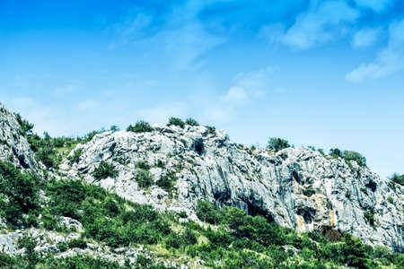 Beautiful mountain landscape on sunny summer day. Montenegro, Bosnia and Herzegovina, Albania, Dinaric Alps Balkan Peninsula Reklamní fotografie