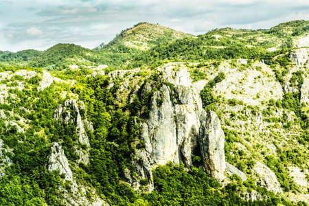 Beautiful mountain landscape on sunny summer day. Montenegro, Bosnia and Herzegovina, Dinaric Alps Balkan Peninsula Reklamní fotografie