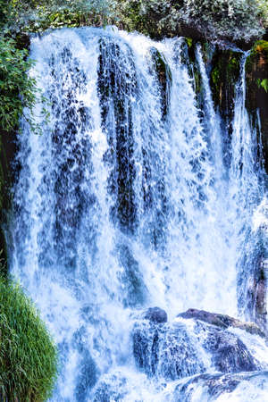 Kravice waterfall on the Trebizat River in Bosnia and Herzegovina. Miracle of Nature in Bosnia and Herzegovina.