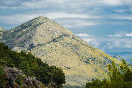 Beautiful mountain landscape on sunny day. Montenegro, Albania, Bosnia, Dinaric Alps Balkan Peninsula. Ð¡an be used for postcards, banners, posters,flyers, cards.