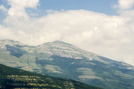 breathtaking mountain landscape on sunny summer day. Montenegro, Albania, Dinaric Alps Balkan Peninsula. Can be used for postcards, banners, posters, posters, flyers, cards