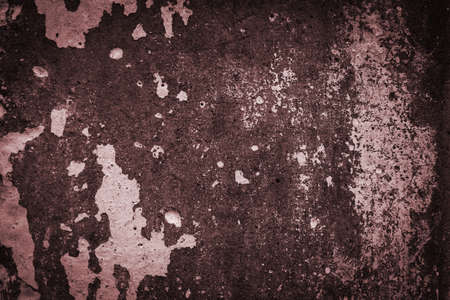 Texture of old grungy brown concrete wall for background, Copy space. Blurred.