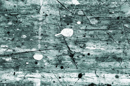 Wooden scratched green grunge texture background with nails and cracked gray white paint drops with wood vintage structure. 版權商用圖片