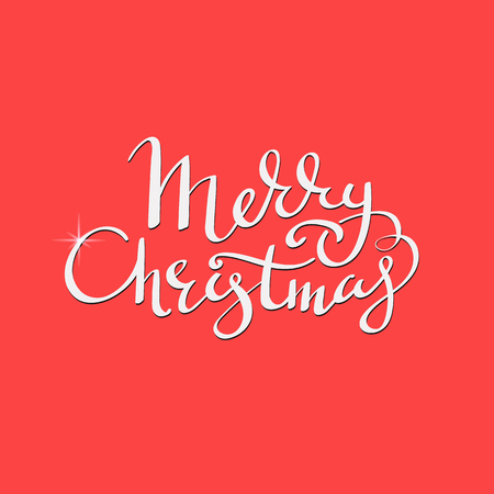 new sign: merry christmas flourish decorative lettering calligraphy style