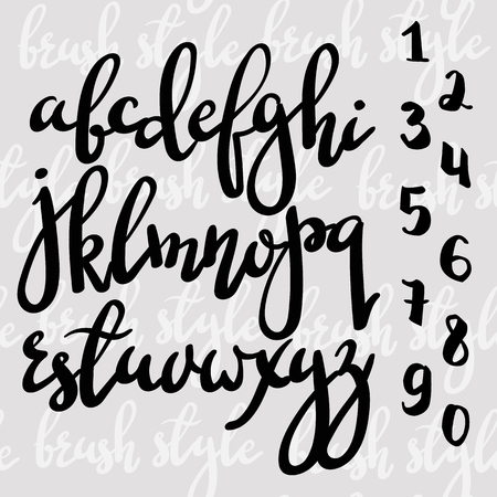 alphabet letters: Handwritten brush pen modern calligraphy font