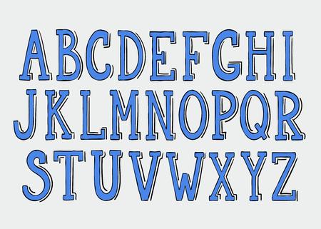 doodle text: Doodle alphabet Illustration