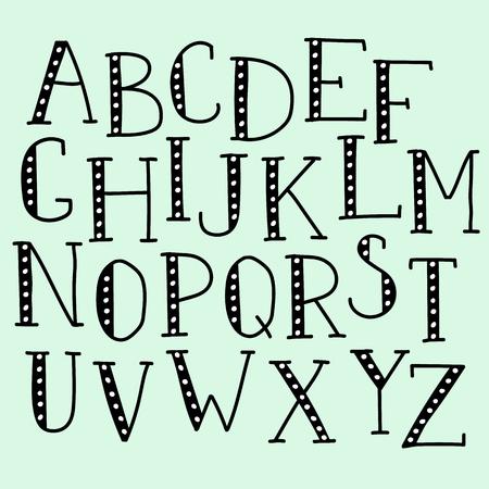 Garabatos De Colores Para Niños Alfabeto Vector Letras Y