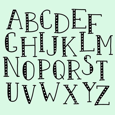 hand written: Vector doodle alphabet, vector simple hand drawn letters thin serif marker font. Decorative font for books, posters, postcard, web hand drawn style typography.