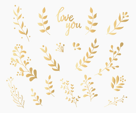decoration style: Flourish gold swirl ornate decoration for pointed pen ink calligraphy style. Quill pen flourishes. For calligraphy graphic design, postcard, menu, wedding invitation, romantic style. Illustration