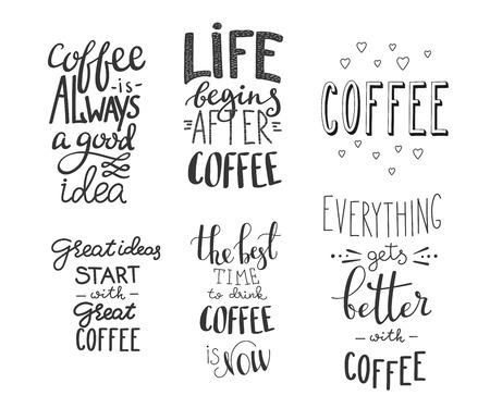 Super Citation Tasse De Café Typographie. Calligraphie De Style Café  KM25